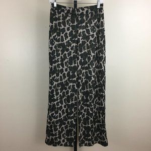 NWT ZARA Camo Leo Print Ribbed Fabric Pull On Pant